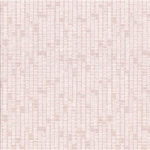 Clarice Pink Distressed Faux Linen Wallpaper