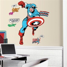Classic Captain America Comic Giant Wall Decals
