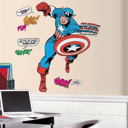 Classic Captain America Giant Wall Decals
