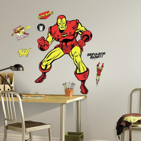 Classic Iron Man Comic Giant Wall Decals