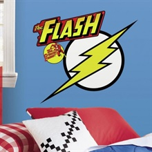 Classic THE FLASH Logo Giant Wall Decals