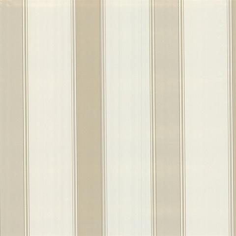 Claude Cream Stripe Wallpaper