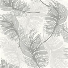 Clemente Light Grey Foil Feather