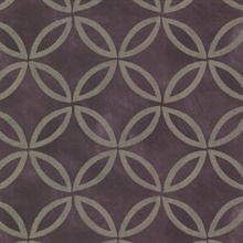 Cloverleaf Purple Geometric