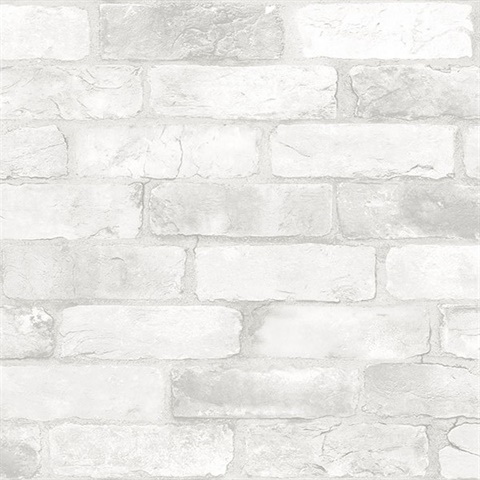 Cody Light Grey Reclaimed Bricks Wallpaper