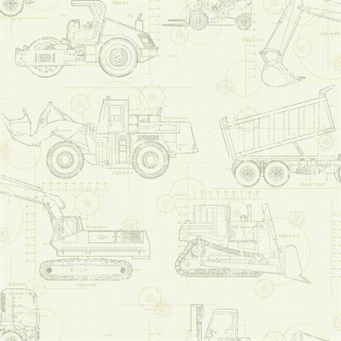Ks2354 construction blueprint wallpaper boulevard construction blueprint malvernweather Image collections