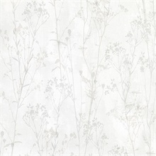Cordelia Off-White Floral Silhouettes Wallpaper