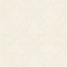 Cotswold White Floral Damask