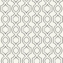 Cream & Black Commercial Handdrawn Geometric Wallpaper