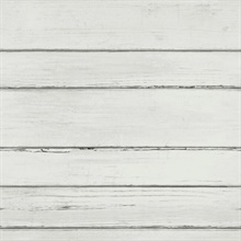 Cream Faux Wood Horizonal Shiplap Planks Wallpaper