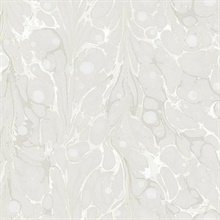 Cream Marbled Endpaper Wallpaper