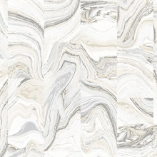 Cream Metallic Faux Marble