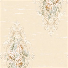 Cresswell Cameo Floral Damask