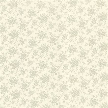 Dainty Light Green Small Floral Wallpaper