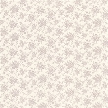 Dainty Mauve Small Floral Wallpaper