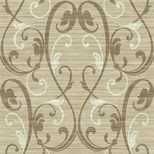 Damask On Grasscloth Mylar