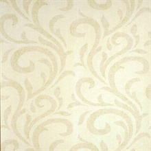 Dante Light Yellow Swirl Wallpaper