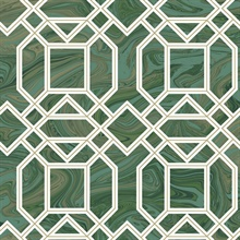 Daphne Green Trellis Wallpaper