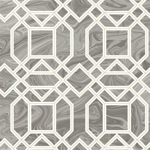 daphne grey trellis wallpaper - Trellis Wall Paper