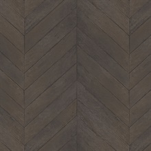 Dark Brown Faux Wood Chevron
