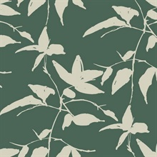 Dark Green Persimmon Leaf Wallpaper