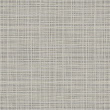 Dark Grey & Grey Abstract Faux Weave Texture Wallpaper