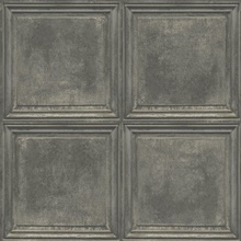 Dark Grey & Grey Charleston Faux Wood Panels Wallpaper