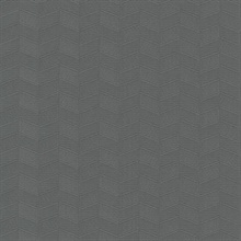 Dark Grey Insignia Geometric Heavy Textured Wallpaper