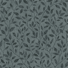 Dark Grey Willow Leaf Wallpaper