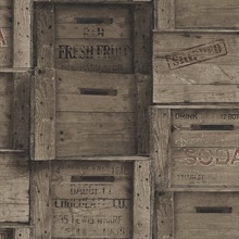 Dark Wood Distressed Wood Crates
