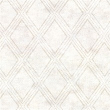 Dartmouth Cream Faux Plaster Geometric Vinyl Wallpaper