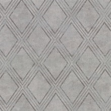 Dartmouth Grey Faux Plaster Geometric Vinyl Wallpaper