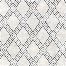 Dartmouth Light Grey Faux Plaster Geometric Vinyl Wallpaper