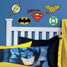 DC Super Heroes Logos Wall Decals