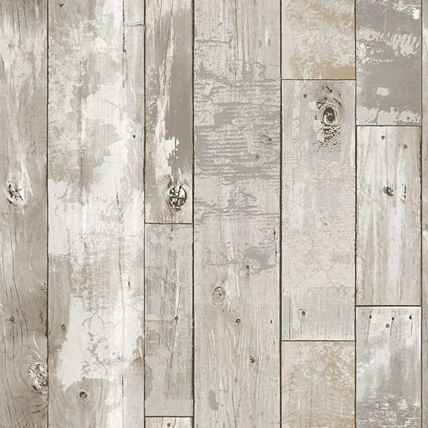 2540 24054 Deena Grey Distressed Wood Wallpaper