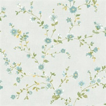 Delphine Light Blue Floral