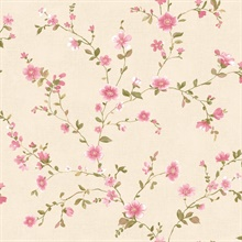 Delphine Pink Floral Trail