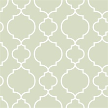 Desiree Sage Quatrefoil