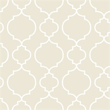 Desiree Taupe Quatrefoil
