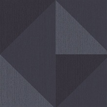 Diamond Blue Tri-Tone Geometric Wallpaper