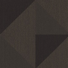 Diamond Bronze Tri-Tone Geometric Wallpaper