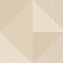 Diamond Khaki Tri-Tone Geometric Wallpaper