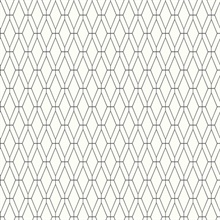Diamond Lattice Wallpaper - Black