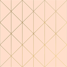 Diamonds Blush Pink Geometric Wallpaper