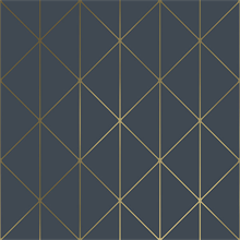 Diamonds Navy Blue Geometric Wallpaper