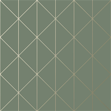 Diamonds Olive Green Geometric Wallpaper