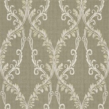 Dis Rumba Gold Scroll Damask Wallpaper
