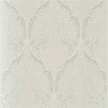 Dis Rumba Off-White Scroll Damask Wallpaper