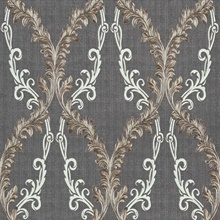 Dis Rumba Taupe Scroll Damask Wallpaper