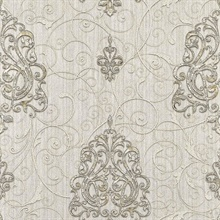 Dis Zeno White Damask
